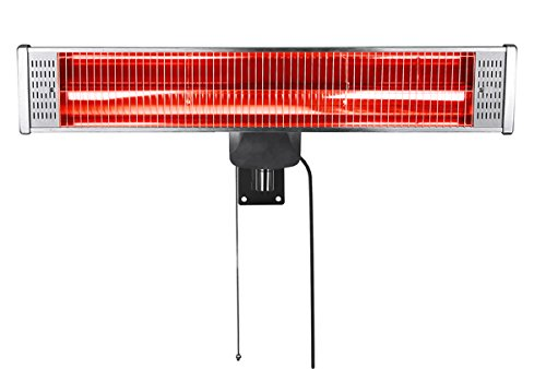 Firefly 1.8kW Outdoor Patio Heater with Easy Fit Wall Mount and Remote Control
