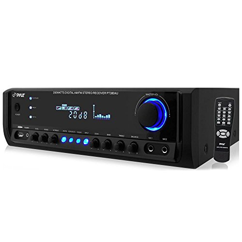 Pyle Digital Home Theater Stereo Receiver with AUX (3.5mm) Input