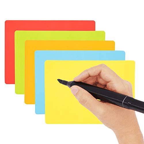 Carte magneti riscrivibili - 25 Pezzi - 15 x 10 cm - Mix (5 colori) - magnetiche foglietti adesivi...