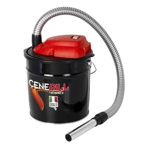Ribimex Cenerill Aspiracenere elettrico 1000 W, 18 L filtro intercambiabile con leva di riarmo