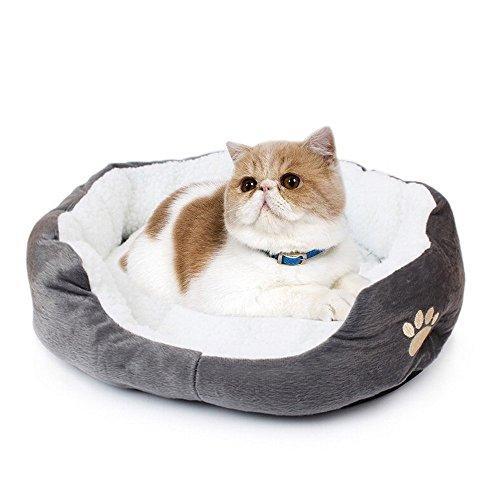 Runfon, Cuscino / cuccia per cani, gatti, animali da compagnia, lavabile, con federa rimovibile