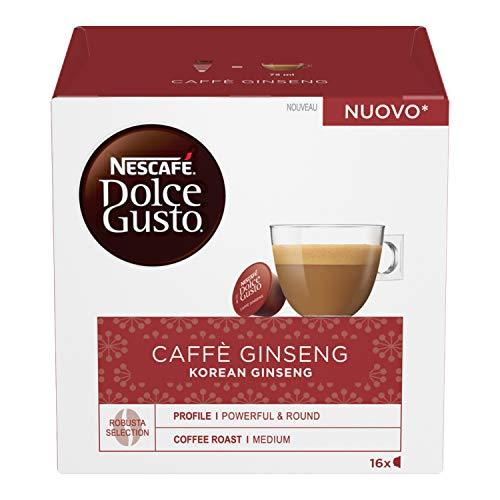 Nescafé Dolce Gusto Caffè Ginseng, Caffè al Ginseng, 6 Confezioni da 16 Capsule, 96 Capsule