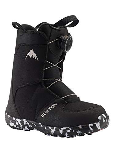 Burton Grom Boa, Scarponi da Snowboard Unisex Bambino, Black, 3K