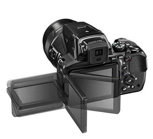 "Nikon Coolpix P900 - Cámara compacta de 16 Mp (pantalla de 3"", zoom óptico 83x, estabilizador óptico, grabación de vídeo Full HD), negro"