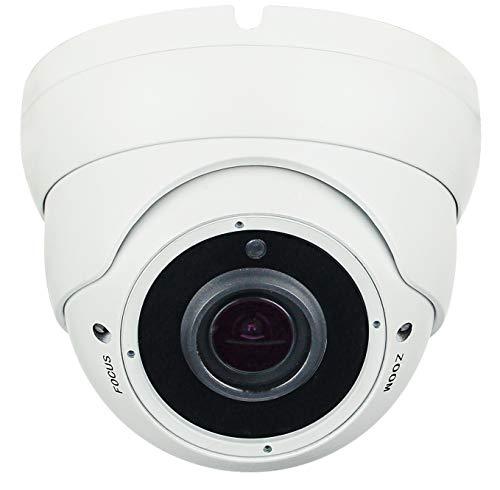 Telecamera dome vandalproof Videosorveglianza Hybrid 4 in 1 Sony Starvis 2Mpx 1080p Full HD AHD CVI TVI cvbs 24 smd IR led Varifocale Lenti Zoom 4X2.8-12mm Joystick OSD IP66 (bianco)
