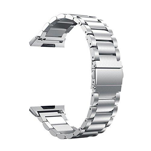 Cikuso Per Cinturino in Acciaio Inossidabile Fitbit Ionic 316L, Cinturino di Ricambio in Acciaio Inossidabile per Fitbit Ionic Orologi(Argento)