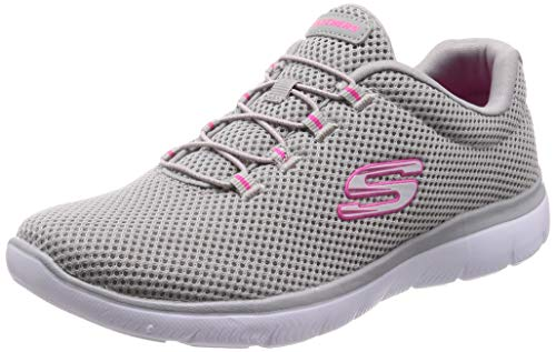 Skechers Summits, Zapatillas para Mujer, Gris (Grey/Hot Pink Gyhp), 39 EU