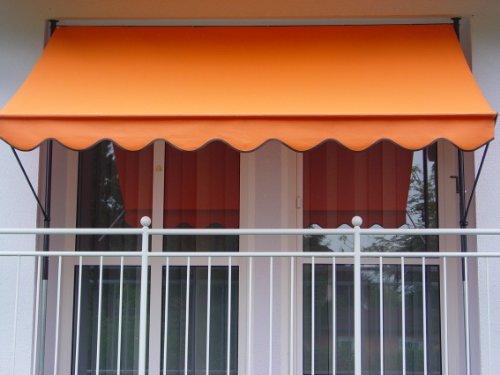 Angerer 2307/1005 Klemmmarkise PE-Gewebe Uni, Orange, 300 cm