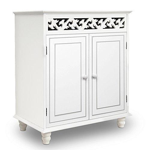 White Wooden Cabinet Cupboard Sideboard Nostalgia Doors Storage