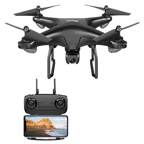 Potensic Drone GPS con Fotocamera 1080P Drone WiFi 5G FPV RC GPS Doppio Drone Videocamera HD Grandangolare Regolabile Seguimi Altitude Hold, Nero