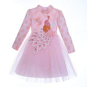 FSKZ Disfraz de Cenicienta Niñas Vestido de Princesa Disfraz de Cosplay Ropa de Fiesta de cumpleaños Vestido Largo de Halloween para niños,Pink-130