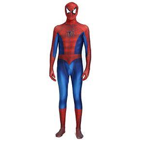 ZHANGQI Niños Adultos Spider-Man Disfraz De Halloween Zentai Todo Incluido Spiderman Plays Cosplay Traje De Batalla Disfraz Disfraz,Red-Adult-M