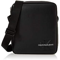 Calvin Klein - Smooth Monogram Flatpack, Organizadores de bolso Hombre, Negro (Black), 1x1x1 cm (W x H L)