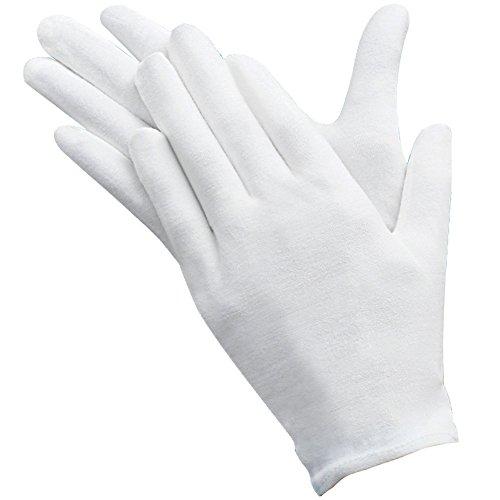 Umsole - 10 paia di guanti protettivi leggeri, morbidi ed elastici, in cotone, per l'ispezione di...