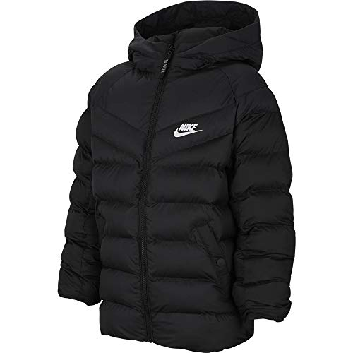 Nike NSW Synthetic-Füllung, Giacca Ragazzo, Black/White, XL