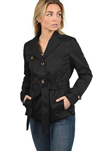 Desires Trixie Giacca Trench Coat Transitorio da Donna con cinturaCollo con Revers, Taglia:S, Colore:Black (9000)