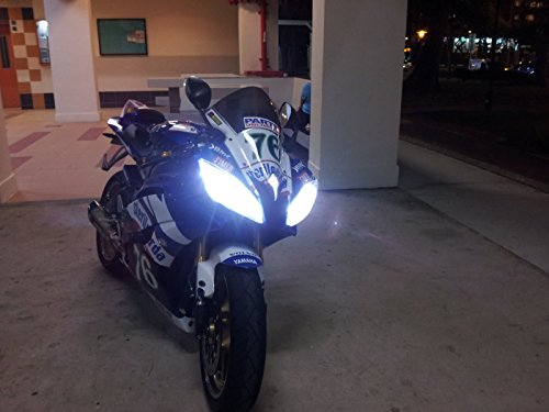 EASYELETTRONICA KIT LED CREE MOTO LAMPADA H7 PER YAMAH R6 YZF PER ANABBAGLIANTE + ABBAGLIANTE TUTTO...