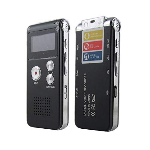 TEQIN Voice Record Mini 8GB Digital Sound Audio Recorder Dictaphone MP3 Player Black