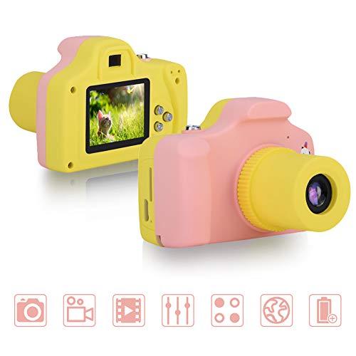 VBESTLIFE Macchina Fotografica per Bambini 1.5 Pollici LCD Mini Fotocamera Macchina Fotografica Digitale Regalo dei Giocattoli per Bambini(Rosa)