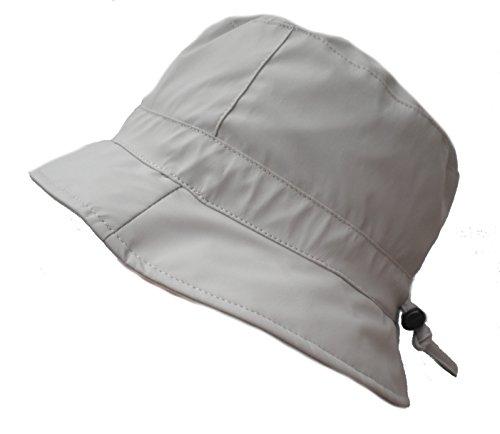 Damen Regenhut Mütze Wetterhut Damenmützen Regenhüte Kofferhut Reisehut (56, Natur Grautöne)