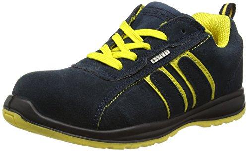 Blackrock Hudson Trainer - Zapatillas de seguridad con punta de acero, Unisex Adulto,Multicolor (Navy/Yellow), talla 42 EU (8 UK)