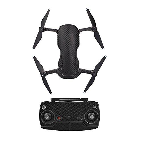 O'woda DJI Mavic Air Drone Body E Controller Adesivi Impermeabile 3M Carbon Grain Decals AntiGraffio...