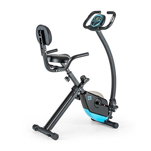 Capital Sports Trajector Vélo d'appartement X-Bike Dossier et accoudoirs (résistance sur 8 Niveaux, inertie 3kg, Charge maximale de 100kg)