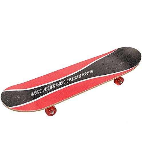 Bluelover Ferrari Fbw19 Skateboard Legno Board Principiante Doppio Calcio PVC Ruota Skate Board