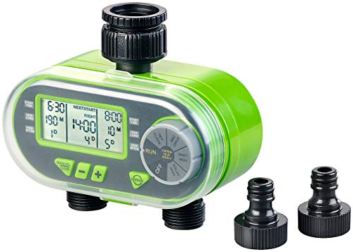 Royal Gardineer Beregnungscomputer: Digitaler Bewässerungscomputer BWC-200 mit 2 Anschlüssen (Bewässerungsautomat)