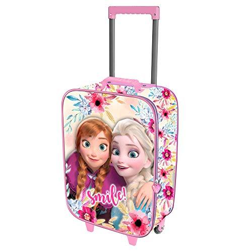 Karactermania Frozen Smile-maleta Trolley Soft 3d Valigia per bambini 52 centimeters 23 Multicolore...