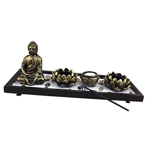 Sharplace Zen Giardino Buddista Candela Luci Titolare Incensiere Incenso Portaincenso Soprammobili...
