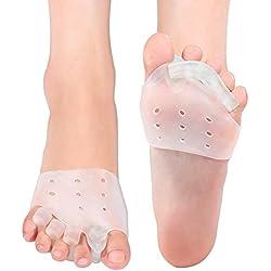 Doact Separador de Dedos (2 pares) Corrector de Juanetes, Dedos de Martilo, Dedos en Garra y Otros Problemas, para Practicantes de Yoga, Baile y Deportistas