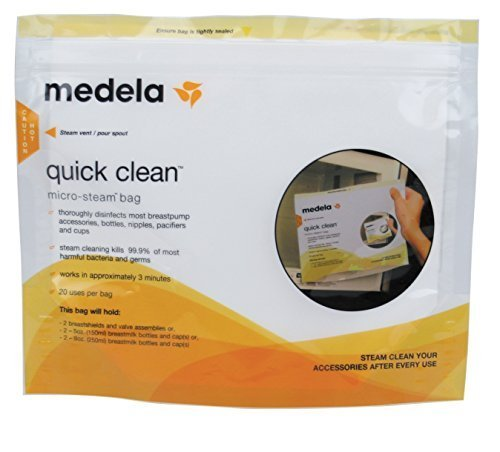 Medela Quick Clean Micro-Steam Bags by Medela (English Manual)