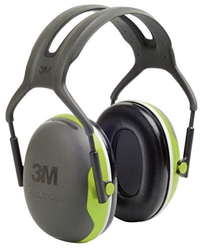 3M PELTOR X4A Orejeras de diadema, 33db, Alta Visibilidad, 1 orejera/caja, Gris y Verde
