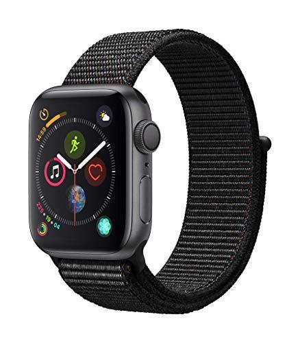 AppleWatch Series4 (GPS) con caja de 40mm de aluminio en gris espacial y correa Loop deportiva negra