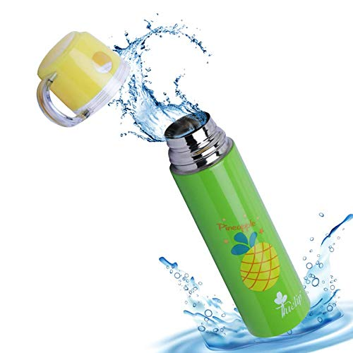 Tuelip Double Walled Vacuum Flask Water Bottle Insulated Stainless Steel with Hot and Cold (Green) 500 ml