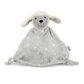 Sterntaler Doudou Oveja Stanley, Edad: Para bebés a partir del primer mes, Tamaño: 30 cm, Color: Gris/ Blanco