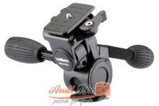 Velbon PHD-62Q accesorio de tripode - Accesorio para trípode (Negro, 0.82 kg, Magnesio)