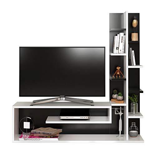 Glory Set Soggiorno - Parete Attrezzata - Mobile TV Porta con mensola in Moderno Design...