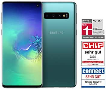 Samsung Galaxy S10 Smartphone (15.5cm (6.1 Zoll) 128GB interner Speicher, 8GB RAM, Prism Green) - Deutsche Version