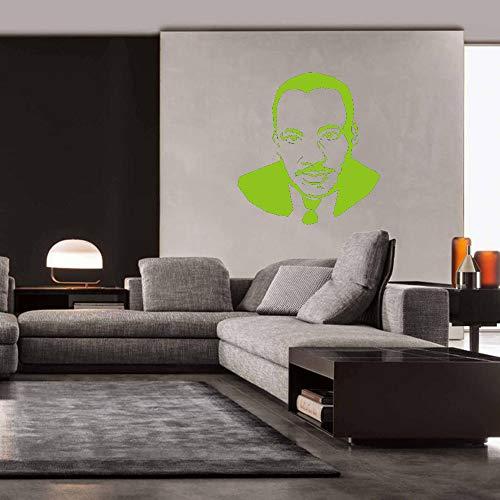 Martin Luther King Wall Sticker Portrait Silhouette Decalcomanie da muro in vinile per soggiorno...