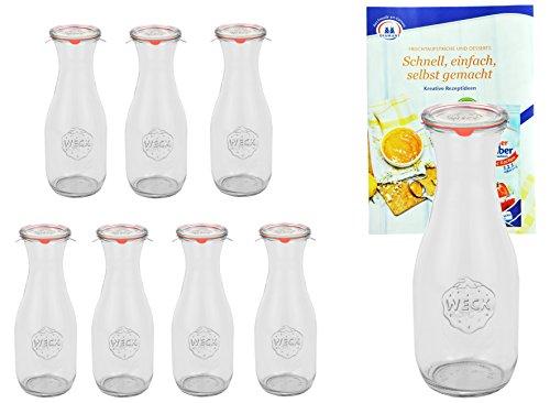 Einkochflasche mit Glasdeckel