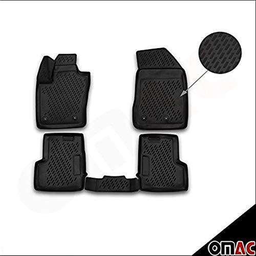 OMAC, Tappetini per auto in gomma polimerica 3D, tappetini con bordo alto