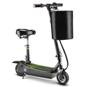 XYDDC Vespa eléctrica Plegable, 15,5 mph Cercanías E-Scooter Bicicletas hasta 198Lb, para Adolescentes y Adultos, Kick Scooter Freestyle a niños y niñas