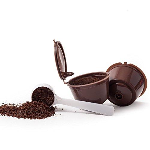 3 Capsule per caffè riutilizzabile RICARICABILE RECARGABLES DOLLCE GUSTO + 1 cucchiaino