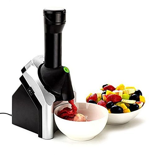 GNEY Yonanas Frozen Healthy Dessert Maker (Black and Silver)
