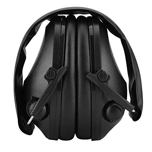 Zerone Audífonos tácticos Antirruido Orejeras Sonido Protección auditiva Oído Defensor para el Tirador Hunter Worker(Negro)