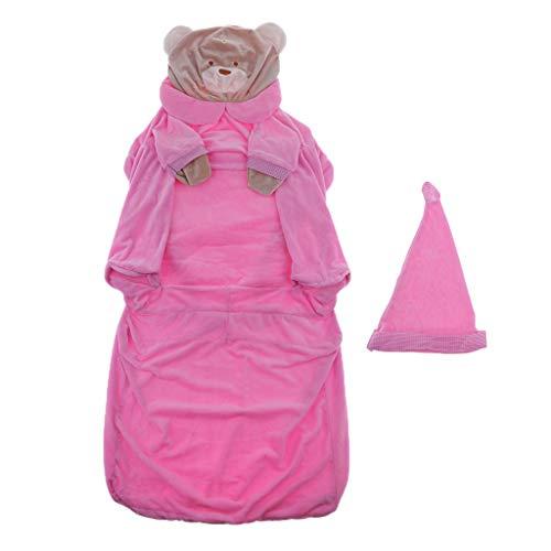B Blesiya Sedia per Bambini Poltroncina in Velluto Fodera Beanbag Arredamento Interno - Orso Rosa