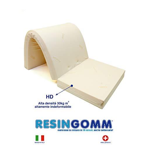 Materasso 1 Piazza e Mezzo per Divano Letto Prontoletto 140x190x10 in Alta Densità 30kg Tessuto...