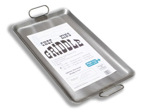 Chef King 7 Gauge Steel Griddle, 14 Inch x 23 Inch